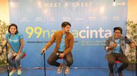 Pemain 99 Nama Cinta melakukan promo terakhir di Bekasi.