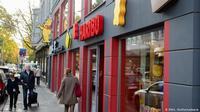 Toko Haribo di Bonn, Jerman, jadi magnet turis. (DW)