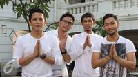 """Band Noah berpose seusai Intimate Music Concert bertajuk """"Eargasm Noah"""" yang digagas oleh vidio.com, di kawasan kota,Jakarta,Rabu (15/6/2016). Band Noah membawakan 8 lagu dalam konser tersebut (Liputan6.com/Herman Zakharia)"""