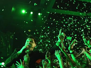 The Script hadir di Indonesia Jakarta. Usai menghibur di Indonesian Idol 2018, ia pun langsung menghibur penggemarnya dalam konser bertajuk Freedom Child. (Bambang E. Ros/Bintang.com)