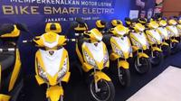 IMI perkenalkan sepeda motor listrik BS (Otosia.com/Nazar Ray)