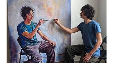 Pelukis Ini Bisa Melukis Dirinya Sendiri dengan Unik, 6 Karyanya Bikin Takjub