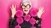 Iris Apfel, 95 tahun, adalah seorang diva fashion yang masih berjaya hingga saat ini.(INC International Concepts)