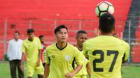 Pemain pinjaman Semen Padang dari Arema, Juan Revi, mulai padu dengan permainan tim Kabau Sirah jelang 8 besar Liga 2 2018. (Bola.com/Dok. Semen Padang)