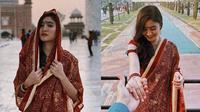 Gaya Febby Rastanty Kenakan Pakaian India (sumber: instagram/febbyrastanty)