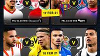Pertandingan leg pertama babak 16 besar Liga Champions, 17-18 Februari 2021 pukul 03.00 WIB dapat disaksikan melalui platform Vidio. (Dok. Vidio)