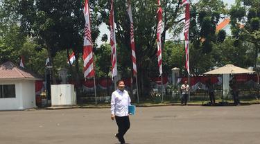 Suharso Monoarfa saat memasuki istana di Jakarta. Merdeka.com/Titin