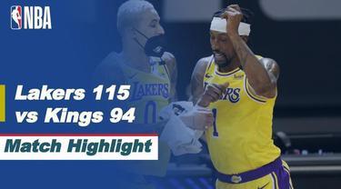 Berita Video Highlights NBA, LA Lakers Raih Kemenangan di Markas Sacramento Kings 115-94 (3/4/2021)