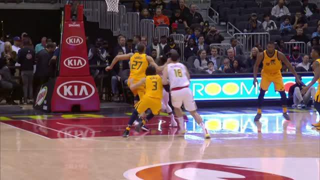 Berita video game recap NBA 2017-2018 antara Atalanta Hawks melawan Utah Jazz dengan skor 104-90.