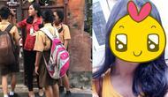 (Foto: @kariinn90/ Instagram) seorang guru cantik asal Bali jadi viral di jejaring sosial.