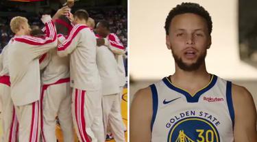 Berita Video Pemain Golden State Warriors, Stephen Curry Kenang Poin Pertamanya di NBA