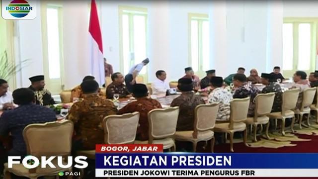 Selain untuk bersilaturahmi, FBR mengaku menemui presiden untuk menyampaikan beberapa hal.