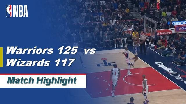 Berita Video Highlights NBA 2019-2020, Golden State Warriors Vs Washington Wizards 125-117