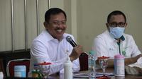 Kunjungan Menteri Kesehatan RI Terawan Agus Putranto ke Poltekkes RS dr Soepraoen, Malang, Jawa Timur pada 7 Agustus 2020. (Kementerian Kesehatan RI)