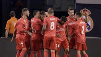 Real Madrid menang 2-0 atas AS Roma di ajang International Champions Cup 2018). (AP Photo/Julio Cortez)