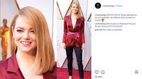 Emma Stone tampil sederhana di ajang Oscar 2018. Simak penampilannya berikut ini. (Sumber: Instagram)