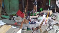 Desa Lemo-lemo di Kabupaten Halmahera Selatan rusak akibat gempa berkekuatan Magnitudo 7,2 pada Minggu, 14 Juli 2019. (Dok Badan Nasional Penanggulangan Bencana/BNPB)