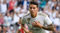 James Rodriguez - Kehebatan permainan Rodriguez di Piala Dunia 2014 membuat Real Madrid tertarik untuk mendatangkannya ke Santiago Bernabeu. Namun, kesulitannya berkembang di Real Madrid membuat Rodriguez lebih banyak dipinjamkan ke klub lain. (AFP/Pierre-Philippe Marcou)