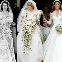 Ternyata, tampilan gaun pengantin Kerajaan Inggris sudah terlihat fashionable sejak 100 tahun lalu. (Sumber foto: BuzzFeed, Pinterest)