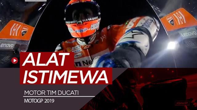 Berita video Andrea Dovizioso disorot saat menggunakan alat istimewa yang terdapat di motor tim Ducati. Alat apakah itu?