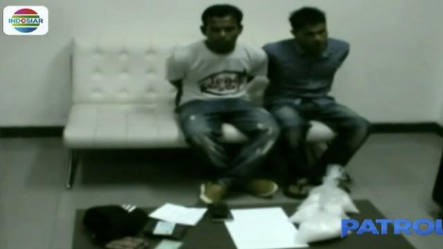 Dua pria asal Aceh, berupaya menyelundupkan sabu, seberat 1,5 kilogram ke Makasar.