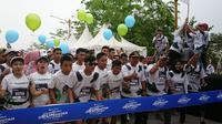 Acara lari ORungutan Run 2019 di Pangkalan Bun, Kalimantan Tengah. (Liputan6.com/Dinny Mutiah)