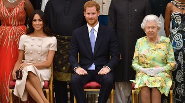 Meghan Markle, Pangeran Harry, dan Ratu Elizabeth