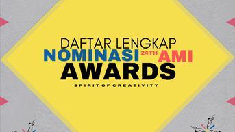 AMI Awards 2021 Umumkan Daftar Lengkap Nominasi untuk 55 Kategori
