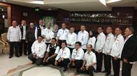 Kementerian Agama resmi memberangkatkan tim advance petugas haji Indonesia, pada Senin (1/7/2019). Dok Kemenag