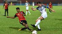 Timnas Filipina menang 3-2 atas Timor Leste pada laga ketiga Grup B Piala AFF 2018, di Kuala Lumpur Football Stadium, Sabtu (17/11/2018) malam WIB. (AFP/Mohd Rasfan)