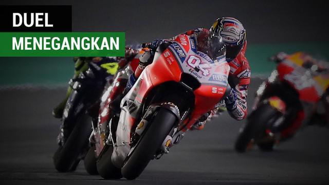 Berita video duel menegangkan yang terjadi pada seri pertama MotoGP 2018 di Qatar.