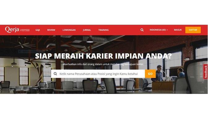 Situs pencari kerja (Sumber: Qerja)