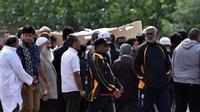 Pemakaman jenazah korban penembakan masjid di Christchurch, Selandia Baru (AFP Photo / Anthony Wallace)