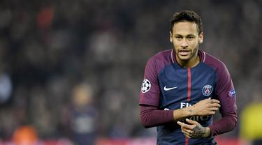 3. Neymar (Paris Saint-Germain) - 91,5 juta euro. (AFP/Christophe Simon)
