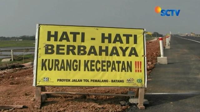 Jalur tol fungsional Pejagan-Pemalang, Pemalang-Batang dan Batang-Semarang, Jawa Tengah, sudah mulai bisa digunakan hari Jumat lusa mendatang untuk arus mudik Lebaran. Tapi...
