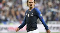 Striker Timnas Prancis, Antoine Griezmann, pada laga Kualifikasi Piala Eropa 2020 kontra Albania  di Stade de France, Paris, Sabtu (7/9/2019) (Lionel Bonaventure / AFP) AFP