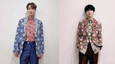 Kenakan Batik Rancangan Ridwan Kamil, Dua Personil Boy Band Korea Bikin Heboh Jagat Medsos