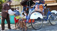 Becak listrik bantuan dari Askrindo untuk penggiat literasi di Yogyakarta (dok: Askrindo)