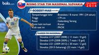 Bintang muda tim nasional Slovakia, Robert Mak. (Bola.com/Rudi Riana)