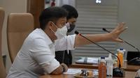 Menteri Kesehatan RI Budi Gunadi Sadikin dalam Rapat Koordinasi Pimpinan Persiapan Vaksinasi COVID-19 pada 23 Desember 2020. (Dok Kementerian Kesehatan RI)