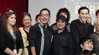 Ferry Mursyidan Baldan hadir di acara jumpa pers film Chrisye