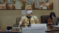 Kepala BPOM Penny K Lukito saat konferensi pers pengembangan Vaksin Merah Putih di Bio Farma, Bandung, Jawa Barat, Jumat, 16 April 2021. (Dok BPOM RI)