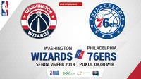 Washington Wizards Vs Philadelphia 76ers_2 (Bola.com/Adreanus Titus)