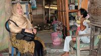 Salmiah Penderita Tumor Ganas selama 7 Tahun di Mamuju Tengah. (Liputan6.com/Abdul Rajab)