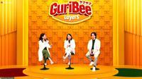 Peluncuran Guribee Layers yang dihadiri Head of Marketing   PT Calbee Wings Food, Lindawaty Lauw dan Brand Ambassador Guribee Layers, Angga Yunanda (Liputan6.com/Komarudin)
