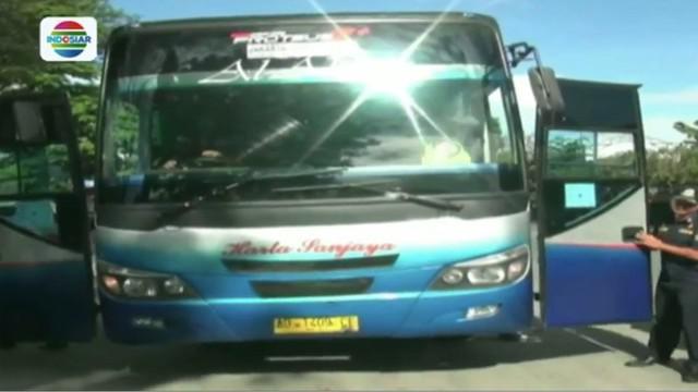 Menjelang Lebaran, Polantas Boyolali sidak kelayakan bus angkutan mudik.