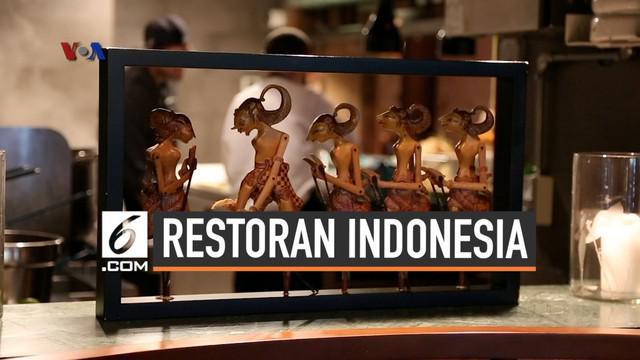 Sebuah restoran Indonesia kini hadir di area terkenal West Village, Manhattan, Wayan Restoran, yang menyajikan makanan khas Indonesia-Perancis mendapatkan perhatian dari pecinta kuliner internasional di kota New York.