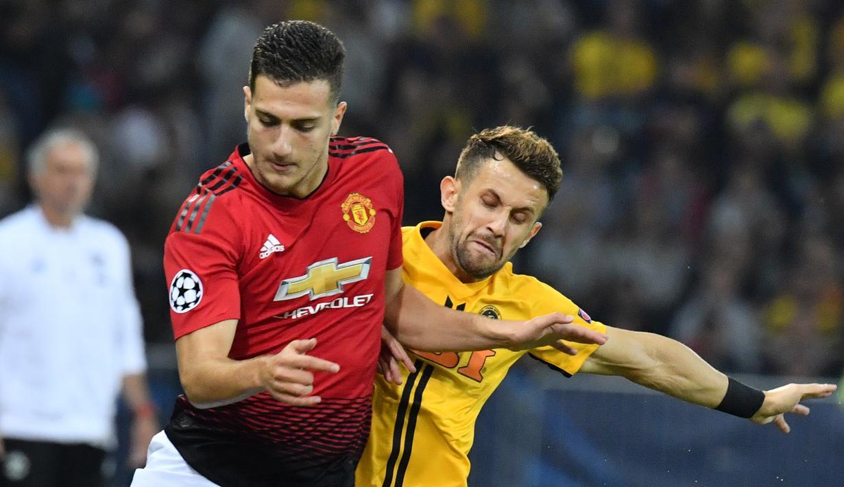 FOTO Aksi Diogo Dalot Saat Debut Bersama Manchester United