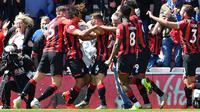 Nathan Ake mencetak gol kemenangan Bournemouth atas Tottenham Hotspur. (AFP/Ben Stansall)