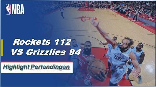James Harden skor 57 ketika Rockets mendapatkan kemenangan atas Grizzlies, 112-95.